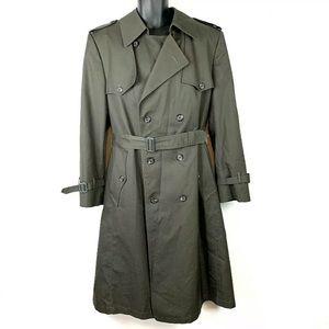 Christian Dior Monsieur Olive Trench Coat Men 40 R
